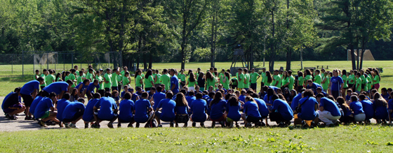 Color Games – Blue and Green Teams