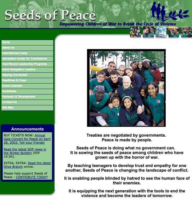 www seedsofpeace org - Seeds of Peace